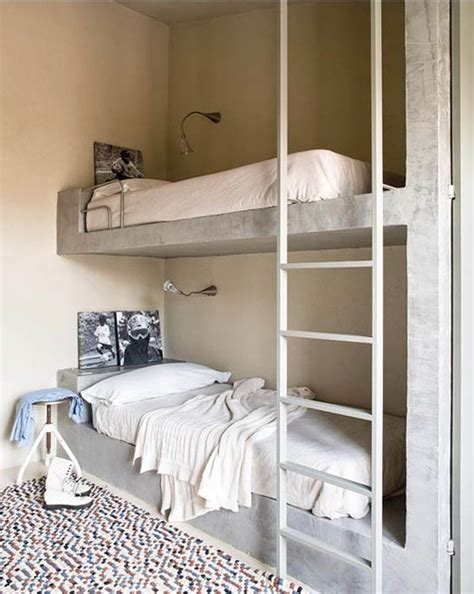 concrete bed concrete bunk beds renovation inspiration pinterest