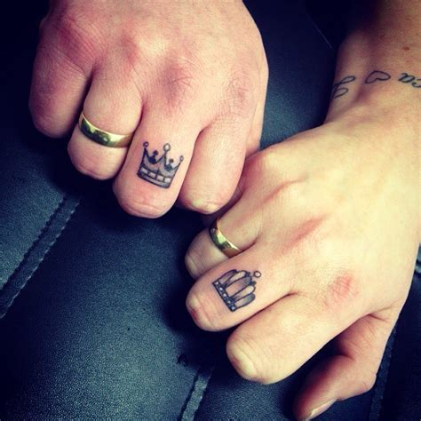 king and queen finger tattoos king and finger tattoos designs ideas and meaning