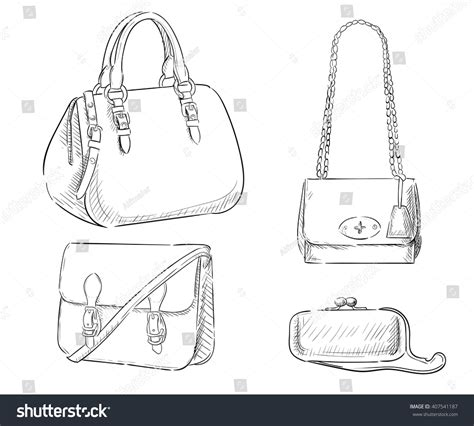 Sketches Bags by Sketches Bags Vector Fashion Illustration Womens Stock