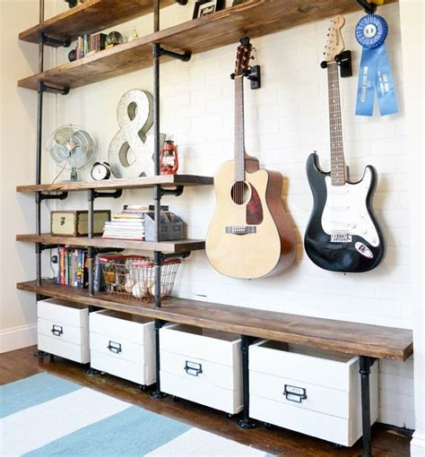 Diy Industrial Shelves Shelves Places And Industrial Industrial Shelves Diy