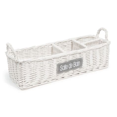 wicker basket bathroom bathroom wicker basket in white maisons du monde
