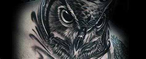 owl tattoo designs neck 30 owl neck tattoo designs for men bird ink ideas