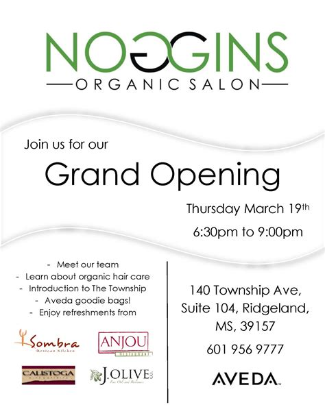 are you opening a new salon or giving your salon design a noggins organic salon grand opening