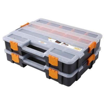 hdx shelving replacement parts hdx 15 compartment interlocking organizer black 2 pack