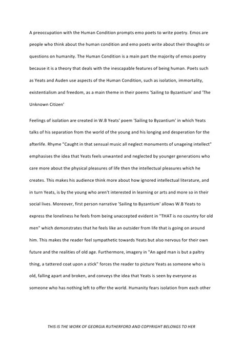 poetry thesis statement poetry essay
