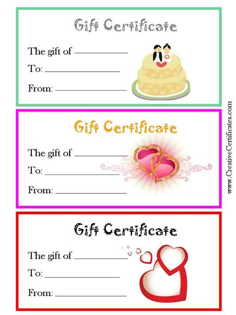 anniversary gift card template free printable and editable gift certificate templates