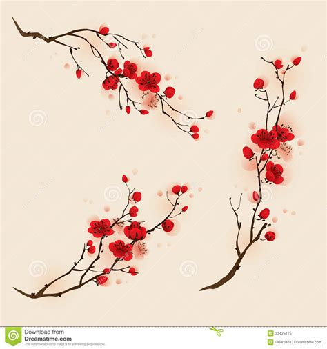 imagenes de flores japonesas oriental style painting plum blossom in spring royalty