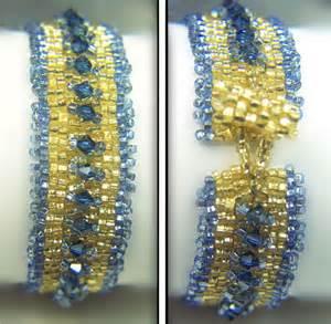 Drop peyote bracelet with embellishments pattern ebooks arts