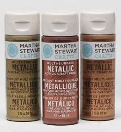 martha stewart crafts metallic paint