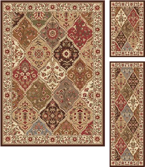 sears kitchen rugs tayse rugs elegance cambridge multi traditional area rug 3 pc set home home decor rugs