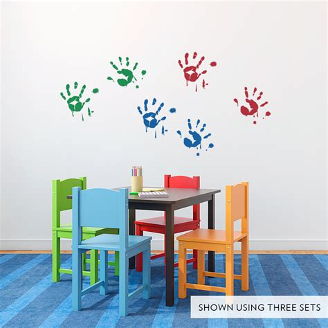 paint stickers for wall handprints wall decals images