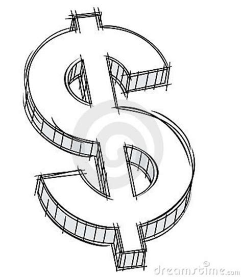 How To Draw A 3d Dollar Sign Step By Step