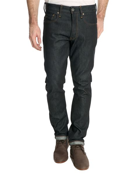 Denim Jn g 3301 denim tapered jean in blue for denim lyst