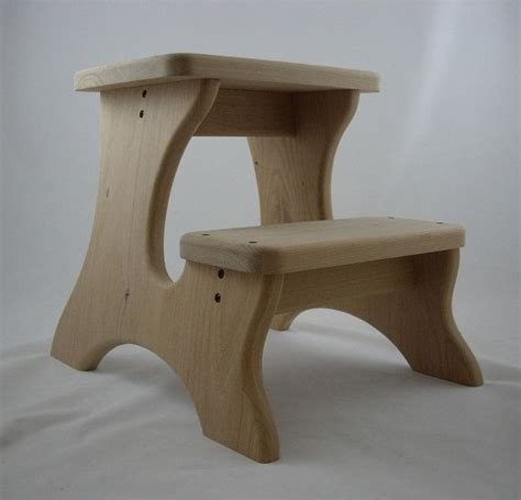 wooden stools unfinished step stool wooden