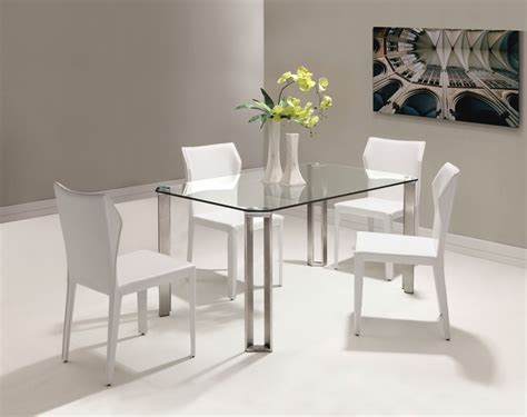 Small Glass Kitchen Table Sets Strikingly Idea Small White Dining Table Home Design Ideas