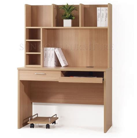 modern simple design bookcase wooden computer desk with