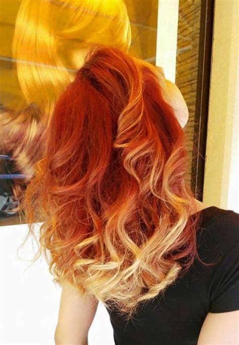 pink highlight on the end tween 167 best images about red orange ombre hair on pinterest