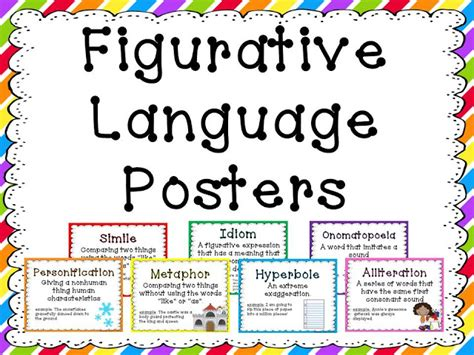 printable personification poster figurative language posters figurative language posters