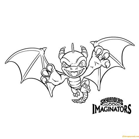skylanders imaginators spyro coloring page free