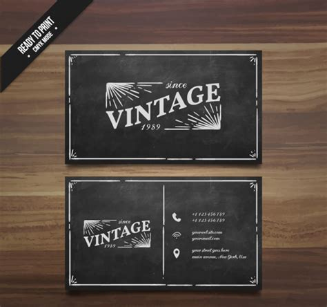 21 Free Vintage Business Card Templates For Download Designyep Vintage Card Templates