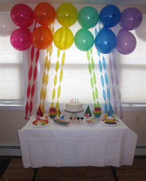 simple decoration ideas creative food rainbow party