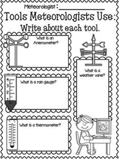 Weather Tools Worksheet by 1000 Images About Weather On Weather Unit