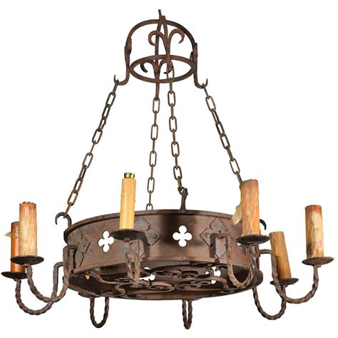 Vintage Iron Chandelier Circa 1900 Antique Iron Chandelier From From Lelouvrefrenchantiques On Ruby