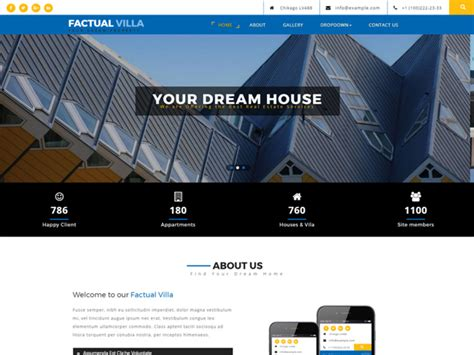 templates bootstrap real estate factual villa bootstrap real estate template freemium