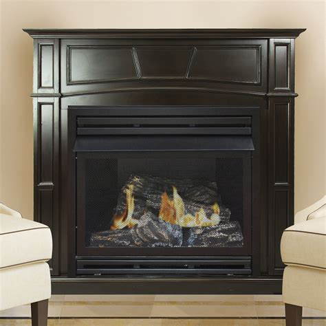 vent free gas fireplace cabinets pleasant hearth 46 quot full size tobacco ghp group inc
