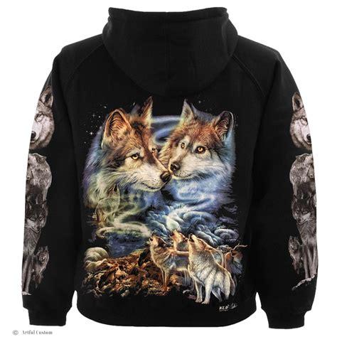 Hoodie Wolf magical wolf hoodie artful custom
