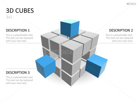 powerpoint cube template 3d cubes powerpoint templates presentationload