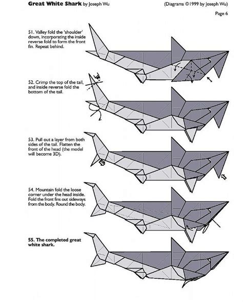 Origami Shark Diagram - origami shark inspiration