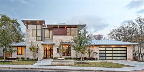 modern home design texas a contemporary home with rustic elements connects to its