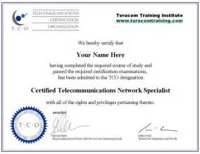 free online telecommunications training certification