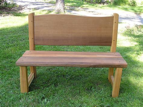 Set Handsplit cedar bench cedar sustainable woodwork