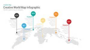 powerpoint map template creative world map with bubbles powerpoint keynote