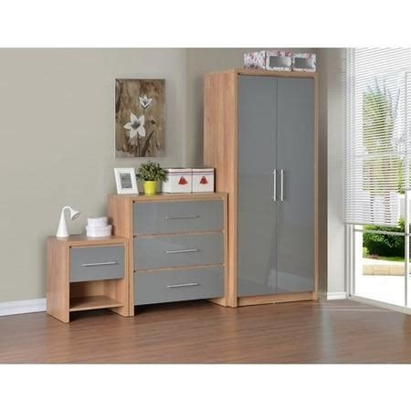 grey high gloss bedroom furniture seconique seville bedroom set in light oak veneer grey