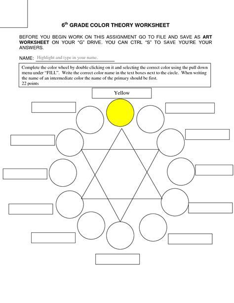 color theory worksheet 14 best images of pop worksheet worksheet color