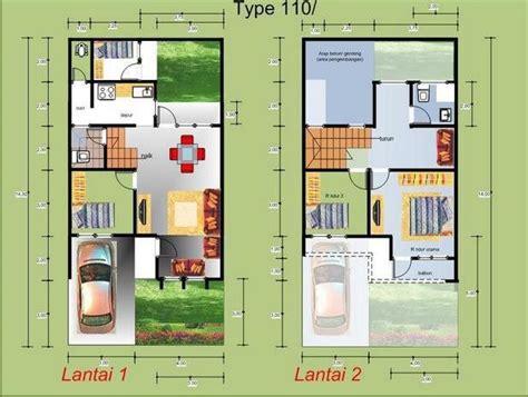 desain rumah  kamar tidur type  home plans house layouts building  house house plans