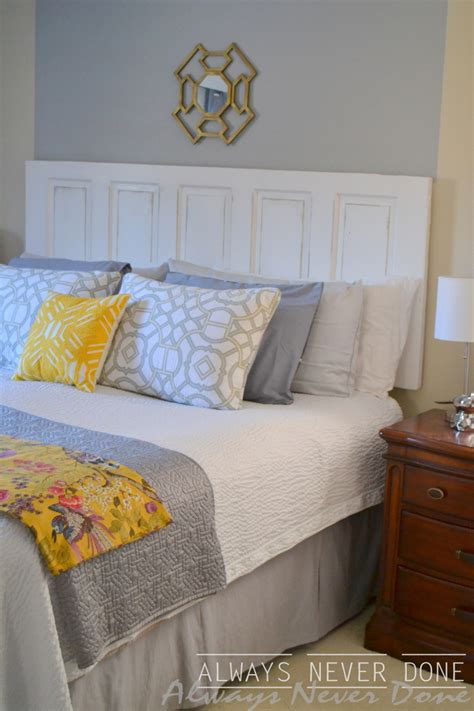 how to make and hang a headboard out of an old door and