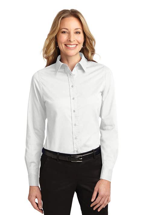 Simple Longsleeve Blouse port authority sleeve easy care shirt womens button shirt l608 ebay