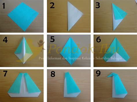 membuat origami sederhana untuk anak paud membuat origami pinguin