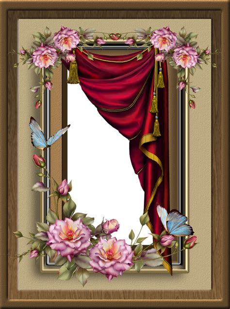 curtain frame red curtain frame by collect and creat on deviantart