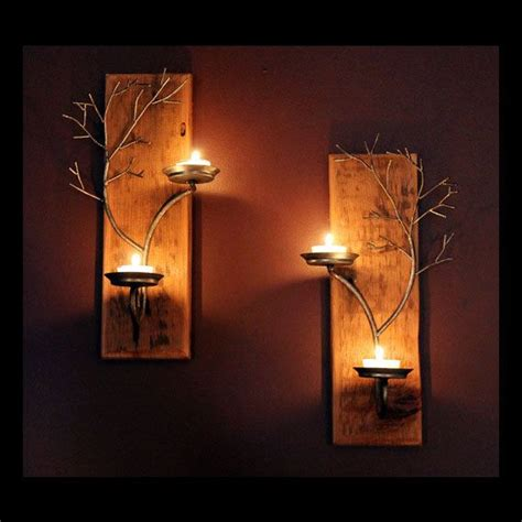 Votive Wall Sconce Votive Candle Wall Sconces Stylish Set Of Two Metal Tree Sculpture On Antique In 12