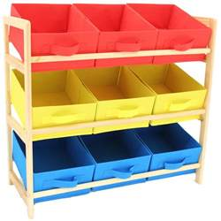 childrens 3 tier bedroom storage shelf unit 9