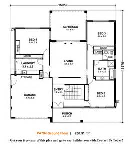 modern home designs plans 4 story house plans with modern contemporary home design
