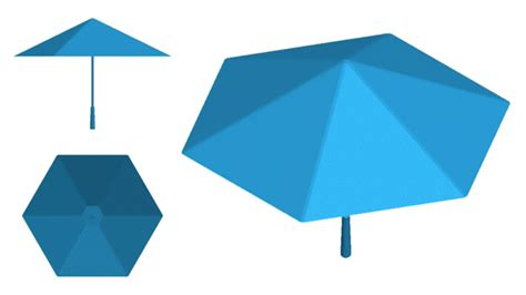 Origami Umbrella - an origami umbrella that has no support skeleton wired