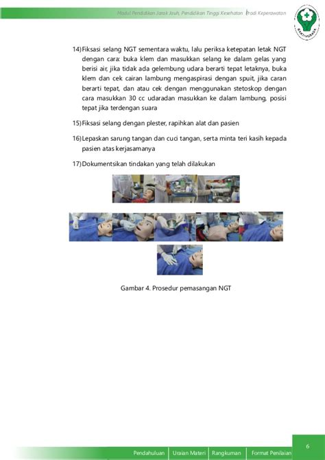 Selang Ngt prosedur pemasangan ngt
