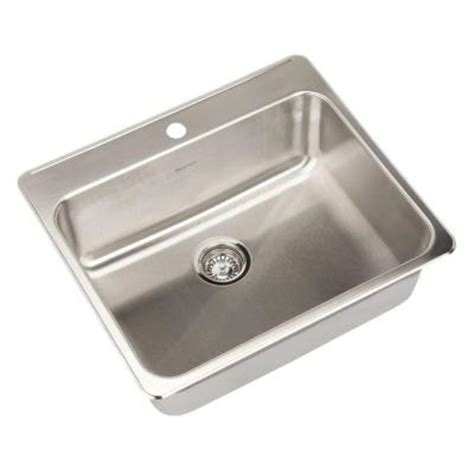 American Standard Stainless Steel Kitchen Sink American Standard Prevoir Top Mount Stainless Steel 25 In 1 Single Bowl Kitchen Sink 15sb