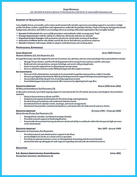 best administrative assistant resume sle to get soon